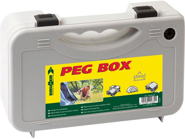 Brunner Peg Box Square - Accessoire tente - 20 pièces 22 cm gris